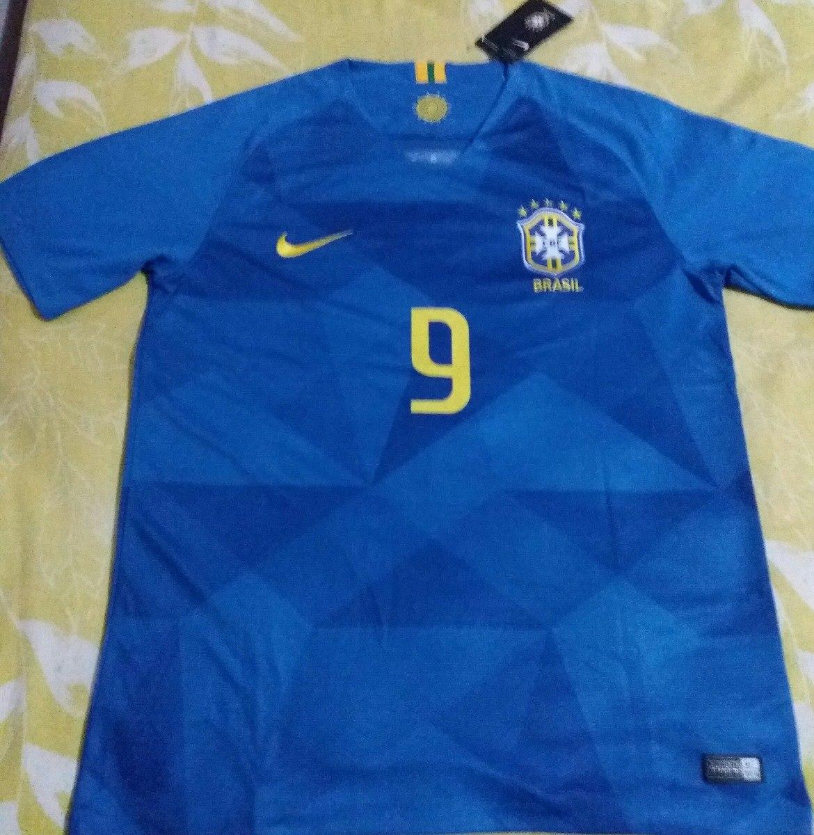 d56055f48e Carregando zoom. camisa seleção brasil ii 2018 nº 9 g. jesus - torcedor nike .