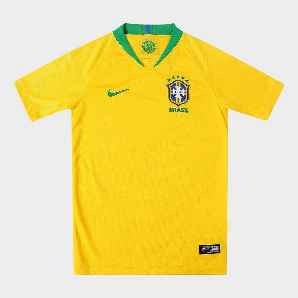 4e2c648145 camisa seleção brasil juvenil i 2018 s n° - torcedor nike -. Carregando  zoom.