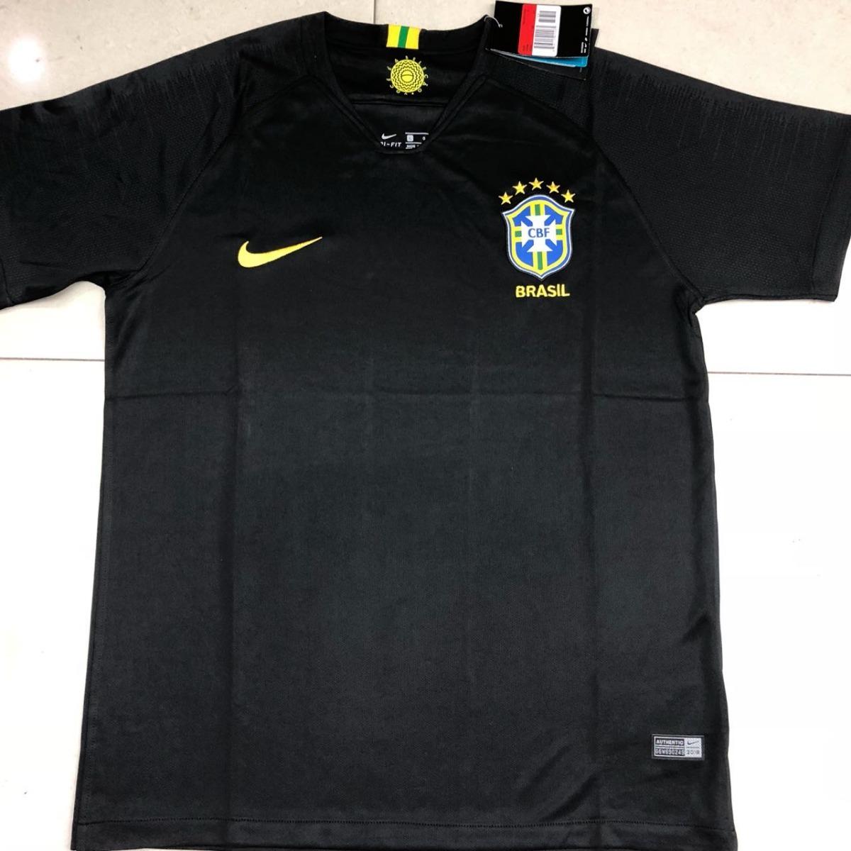 4e6ae46659aac Camisa Seleção Brasil Goleiro 2018 S n° Torcedor Nike Mascul - R  19 ...