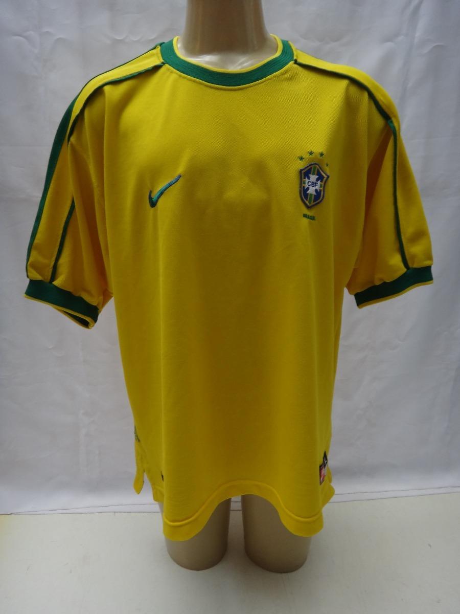 3b7e960b48b83 camisa seleção brasileira 1998 brasil nike copa do mundo gg. Carregando zoom .