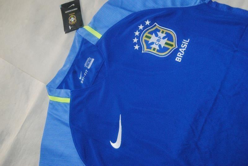 b474757887 Camisa Seleção Brasileira 2 Azul 2017 2018 A Pronta Entrega - R  130 ...