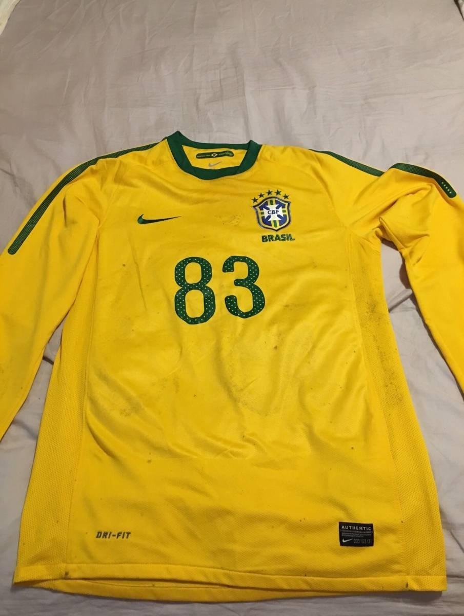aa72992bc4239 camisa seleção brasileira 2010 manga longa oficial nike. Carregando zoom.