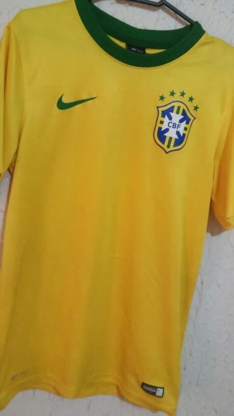 camisa seleção brasileira 2014 2018 original nike. Carregando zoom. 8a4f0e9773b30
