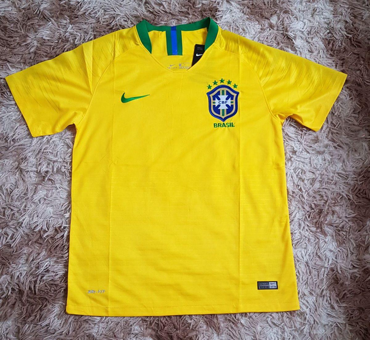 e2b8eb53b1 camisa seleção brasileira 2018 modelo torcedor dri-fit ! Carregando zoom.