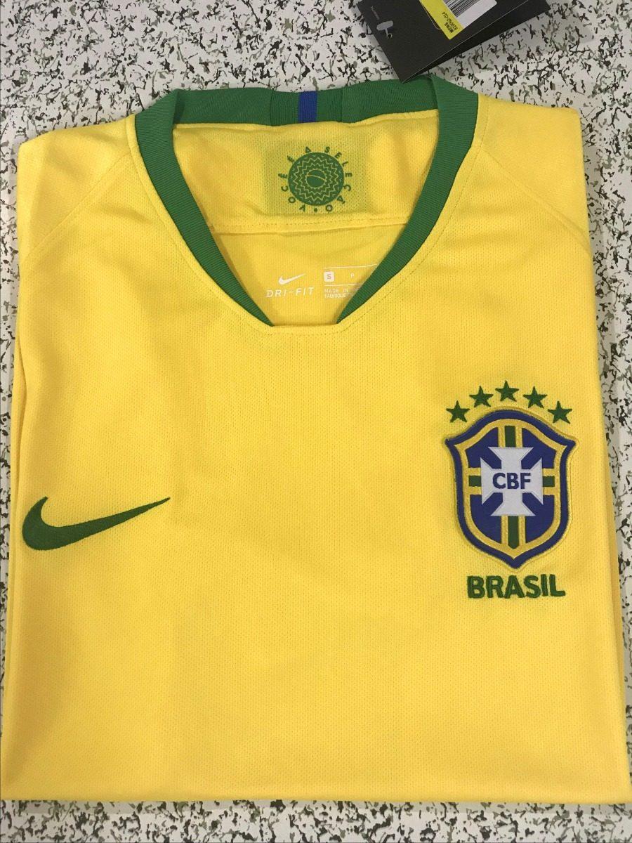 Camisa Seleção Brasileira Amarela Copa Rússia Pronta Entrega - R ... 599921a34b7d0
