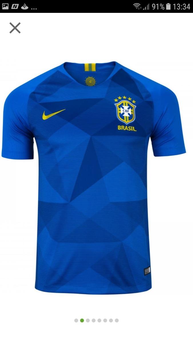camisa seleção brasileira azul oficial. Carregando zoom. a9c0503691bd2
