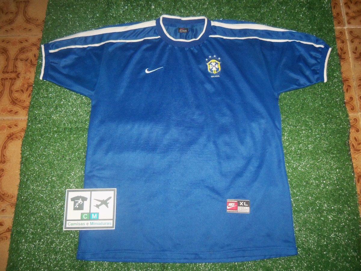 1517f54bf59c0 camisa seleção brasileira brasil 1998-1999 nike away. Carregando zoom.