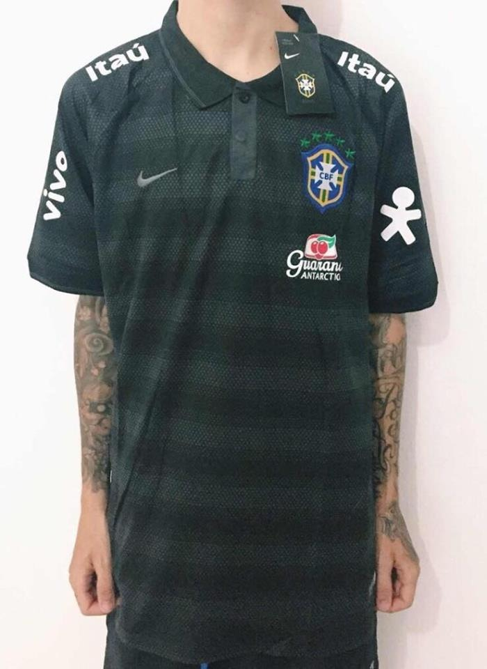 ac764887f2ff1 camisa seleção brasileira brasil polo treino original promo. Carregando  zoom.
