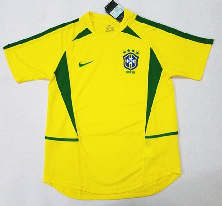 ce35325690482 Camisa Seleção Brasileira Copa 2002- Frete Gratis