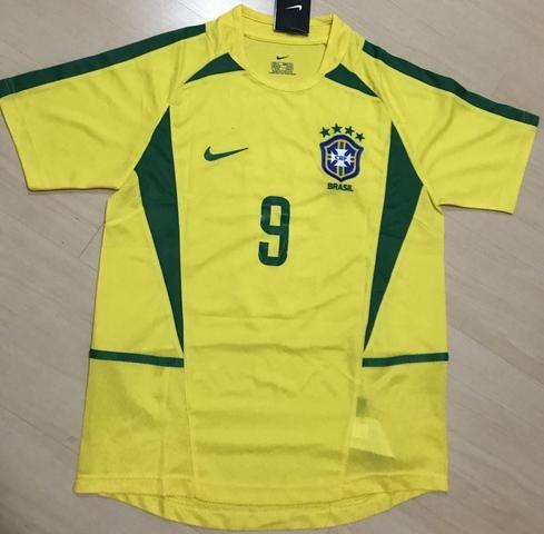acf33f5d17a31 Camisa Seleção Brasileira Copa 2002 (frete Grátis) - R  145