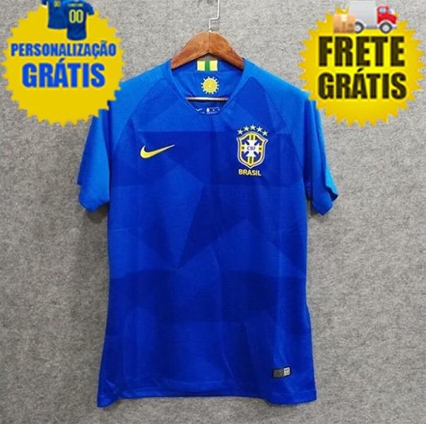 b8abbd8a0f326 Camisa Seleção Brasileira Copa - 2018 Personalize Grátis - R  189