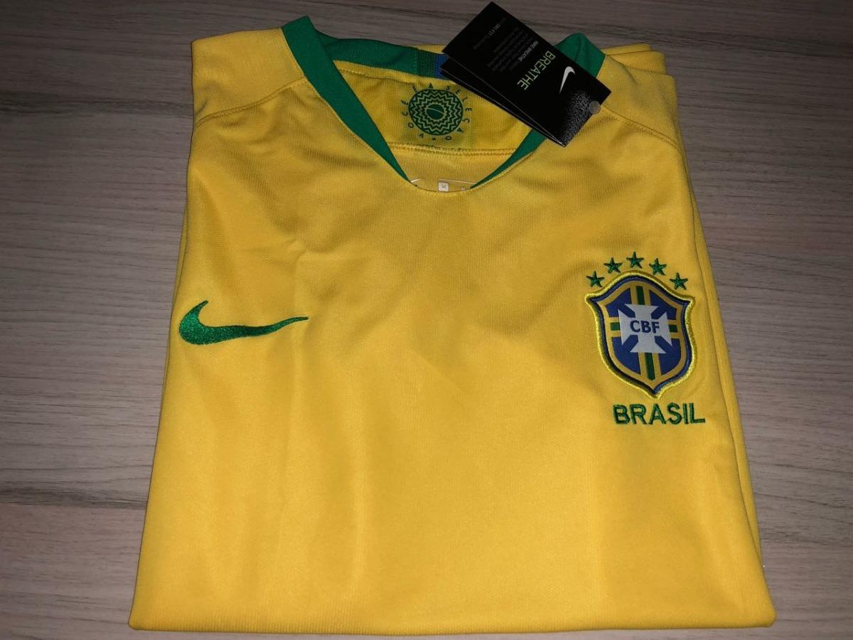 camisa seleção brasileira copa 2018 - sem numero. Carregando zoom. 7b5b2cb36abb9