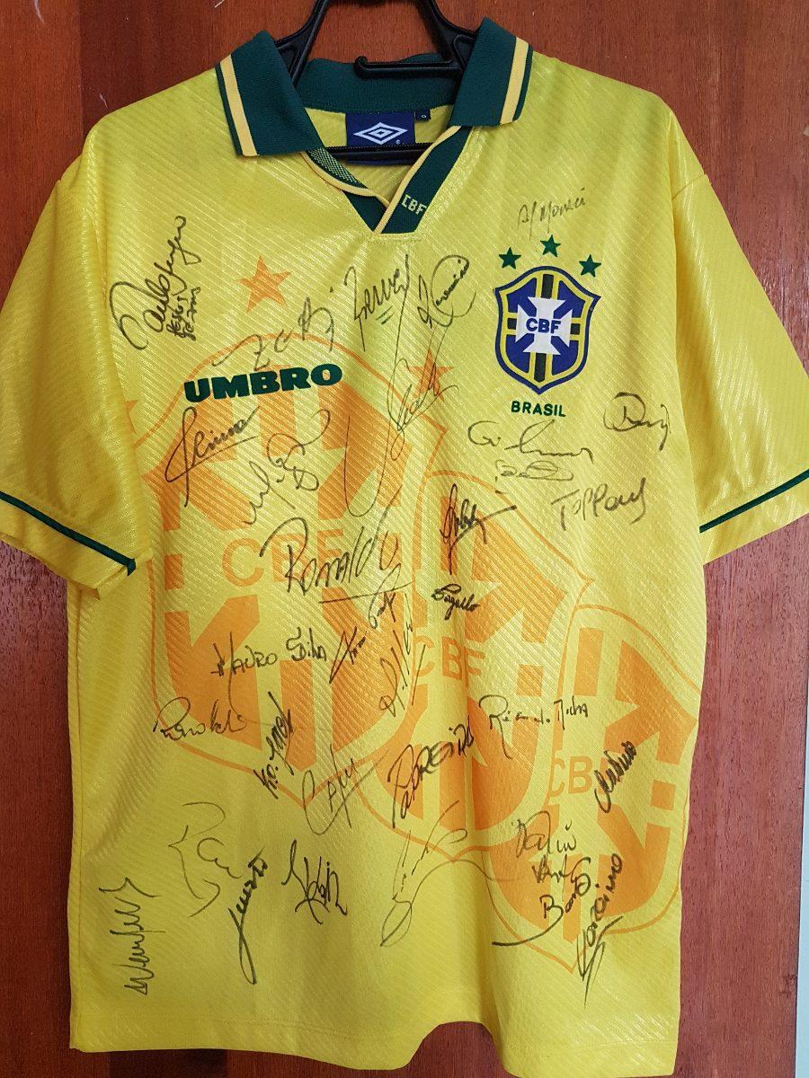 e69c4e786 camisa seleção brasileira copa 94 autografada. Carregando zoom.