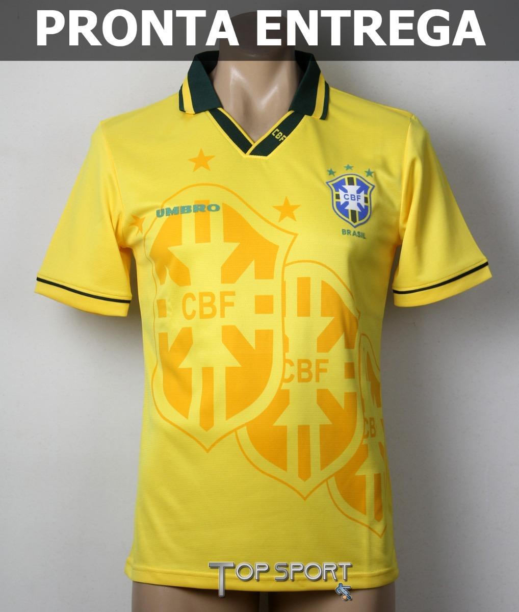camisa seleção brasileira copa de 1994 retrô pronta entrega. Carregando  zoom. 13192bba0ab90