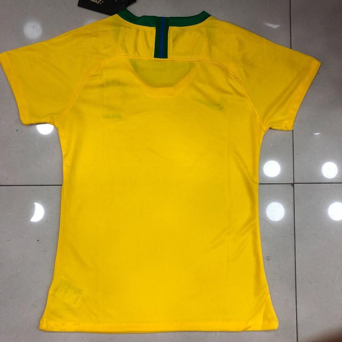 df81bd3d7b camisa seleção brasileira feminina original 2018 baby look . Carregando  zoom.