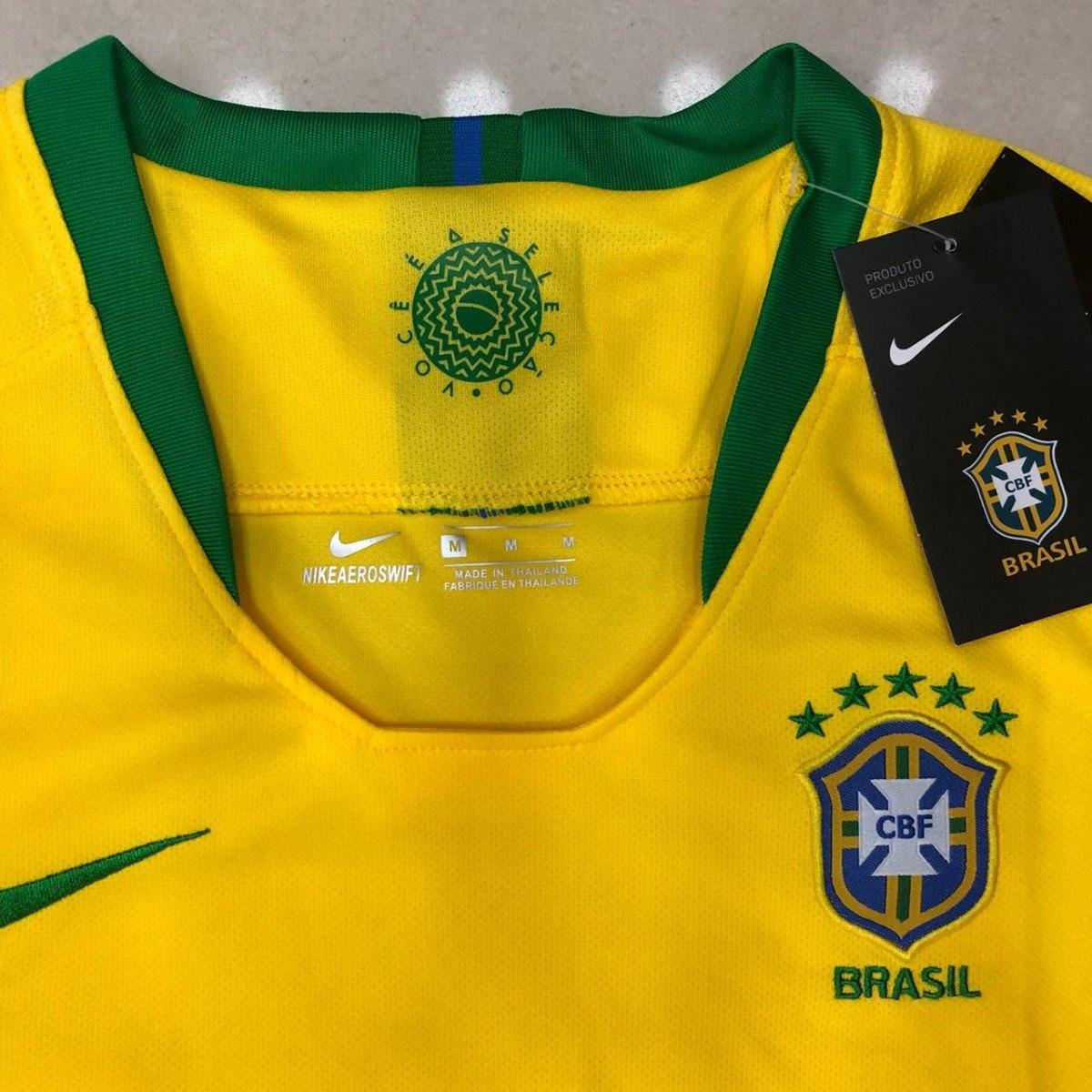 82f8567a8b camisa seleção brasileira feminina original 2018 baby look . Carregando  zoom.