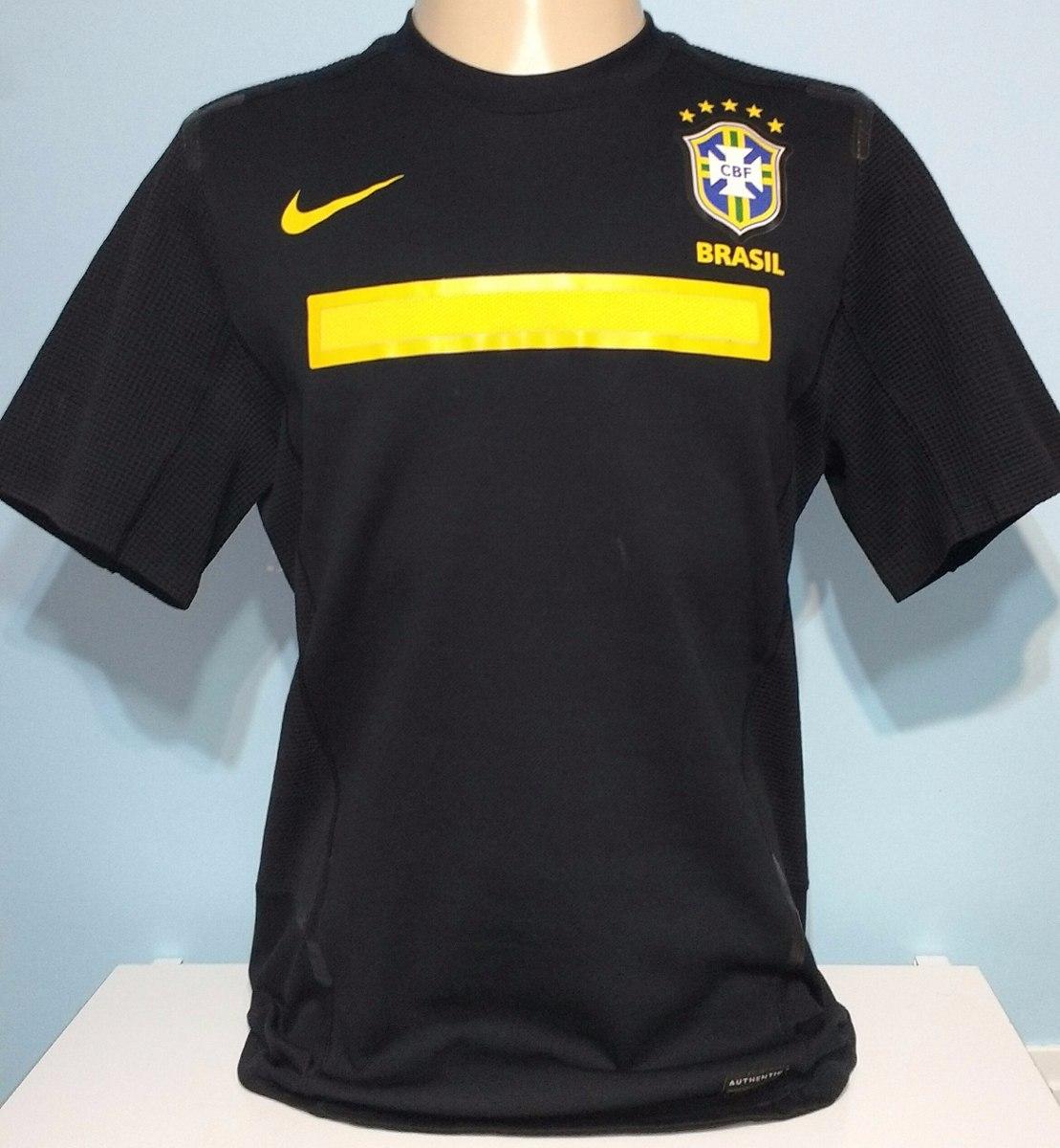 6a3e90474e camisa seleção brasileira goleiro nike preta 2011 - 08. Carregando zoom.