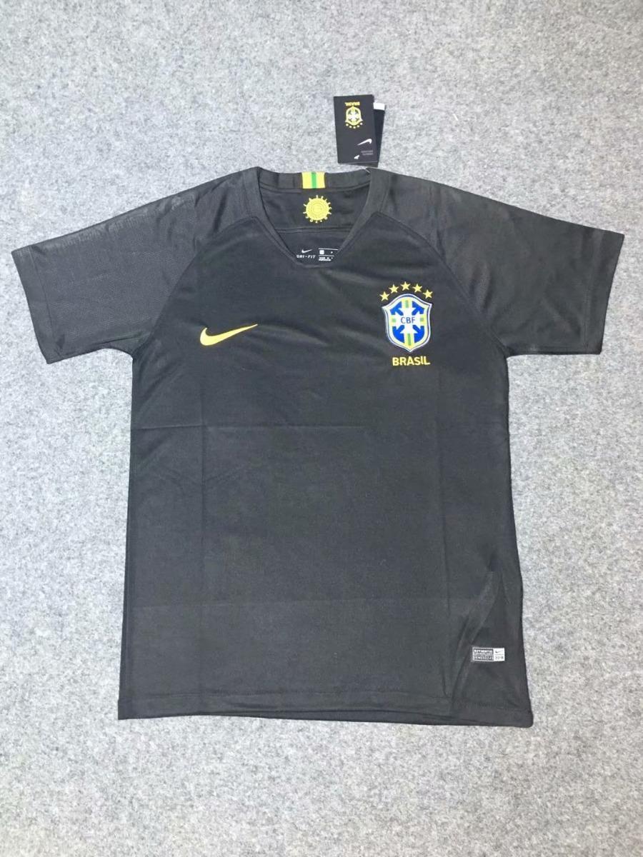 680247ad07 camisa seleção brasileira goleiro preta nike dry-fit 2018. Carregando zoom.