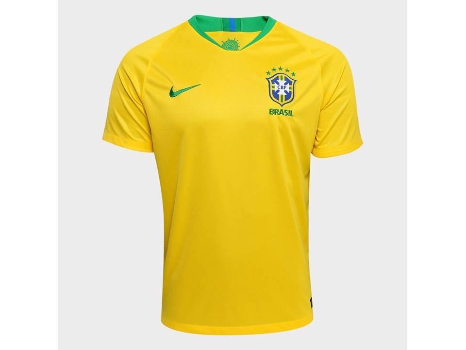 camisa seleção brasileira home 18 19 original amarela   azul. Carregando  zoom. 9e2355d174c36