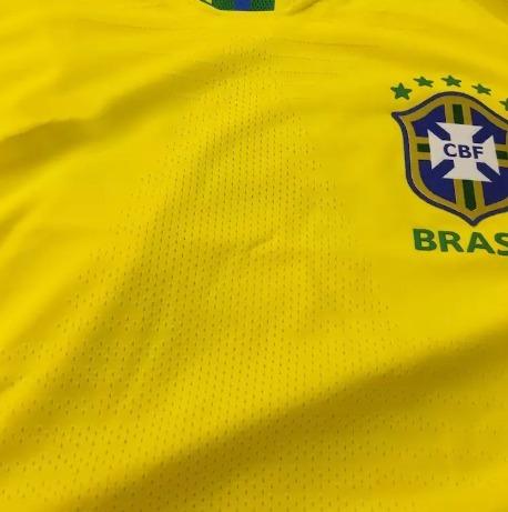 Camisa Seleção Brasileira Jogador Copa Personalize Grátis - R  329 ... c49dc479c32be