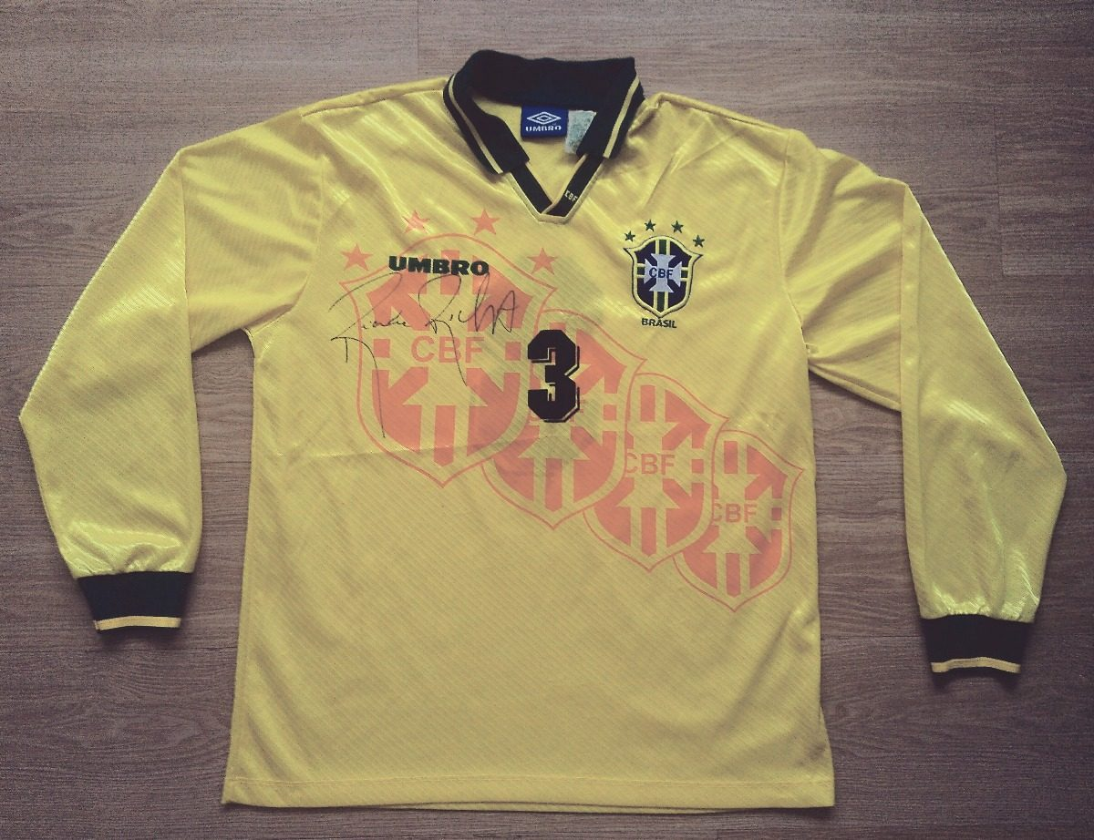 camisa seleção brasileira modelo pós copa de 1994 (de jogo). Carregando  zoom. 8b7797fe31e1a