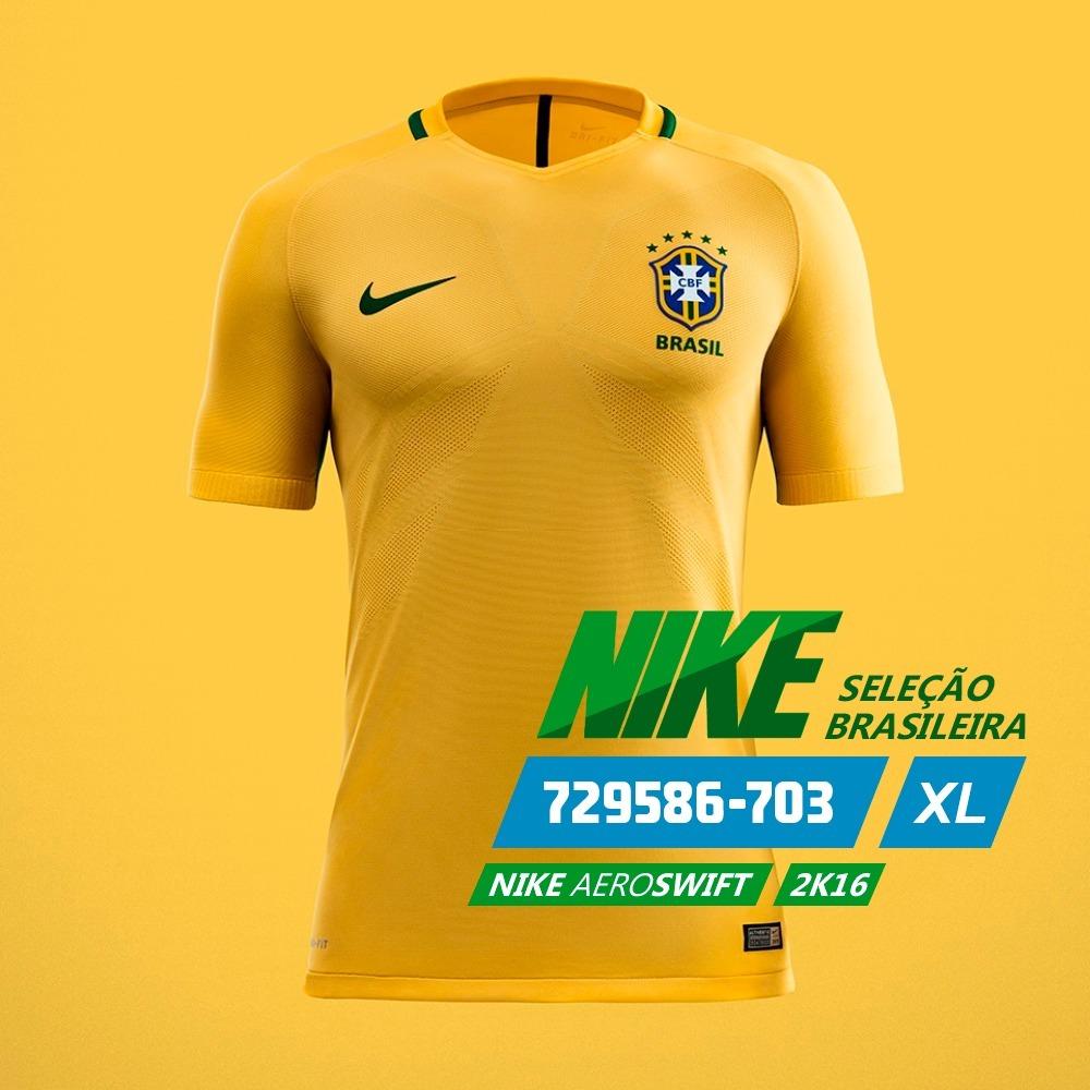 96e2e7f396 Camisa Seleção Brasileira Nike Aeroswift Mod. 2016 - R  129