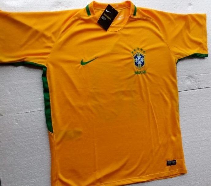 5bb5c3b0fc Camisa Seleção Brasileira Nike Amarela Oficial 2018 Cbf - R  150