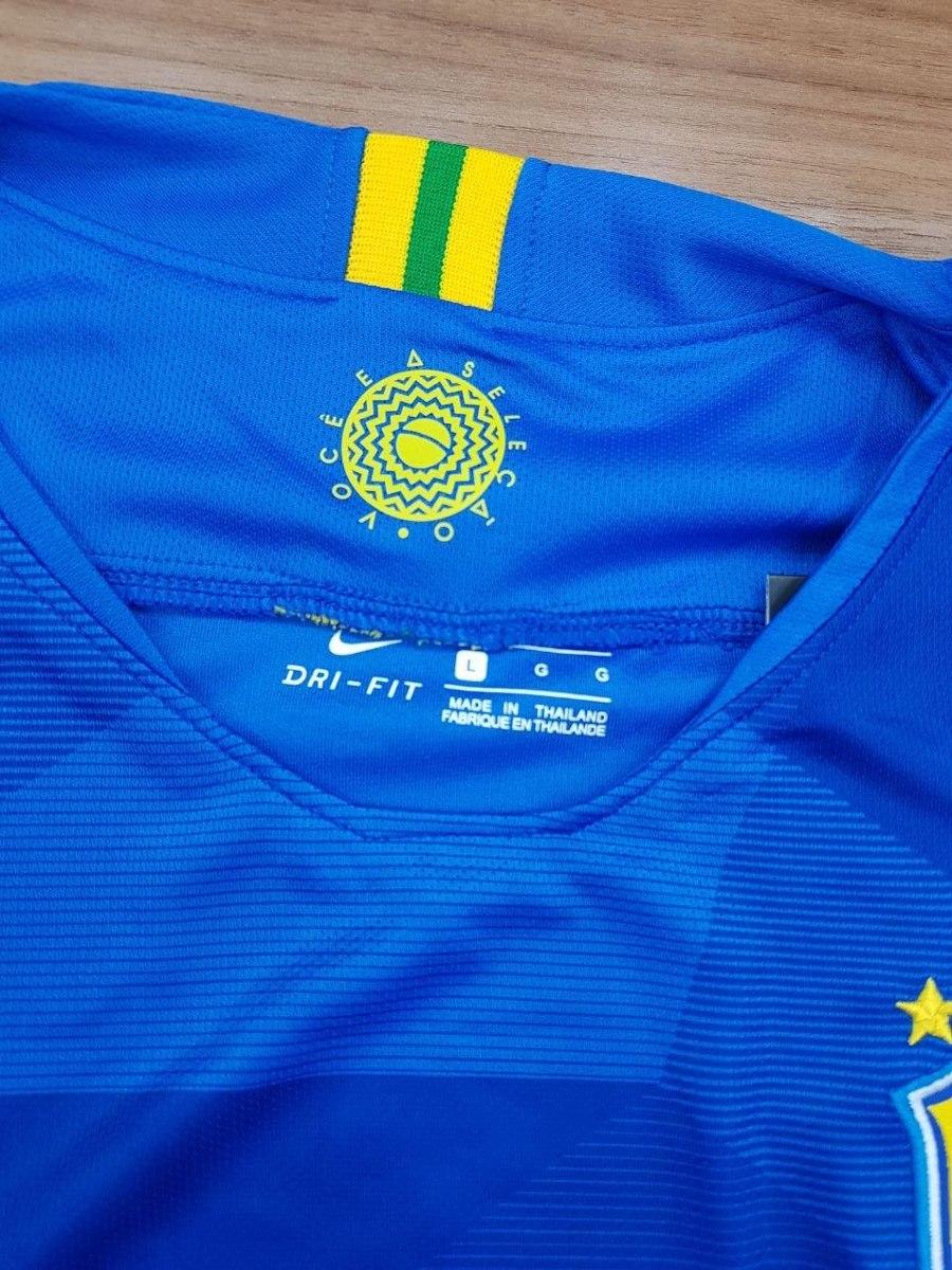620f54361e camisa seleção brasileira nike azul 2018 fãn torcedor. Carregando zoom.