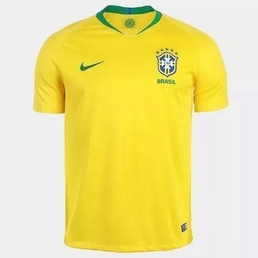 f16a1941e3 Camisa Seleção Brasileira Nike Azul Oficial 2018 - Original - R  110 ...