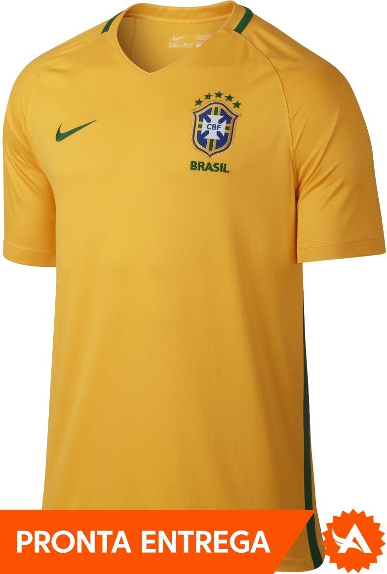 f6850bed0a camisa seleção brasileira nike home titular 2017 amarela. Carregando zoom.