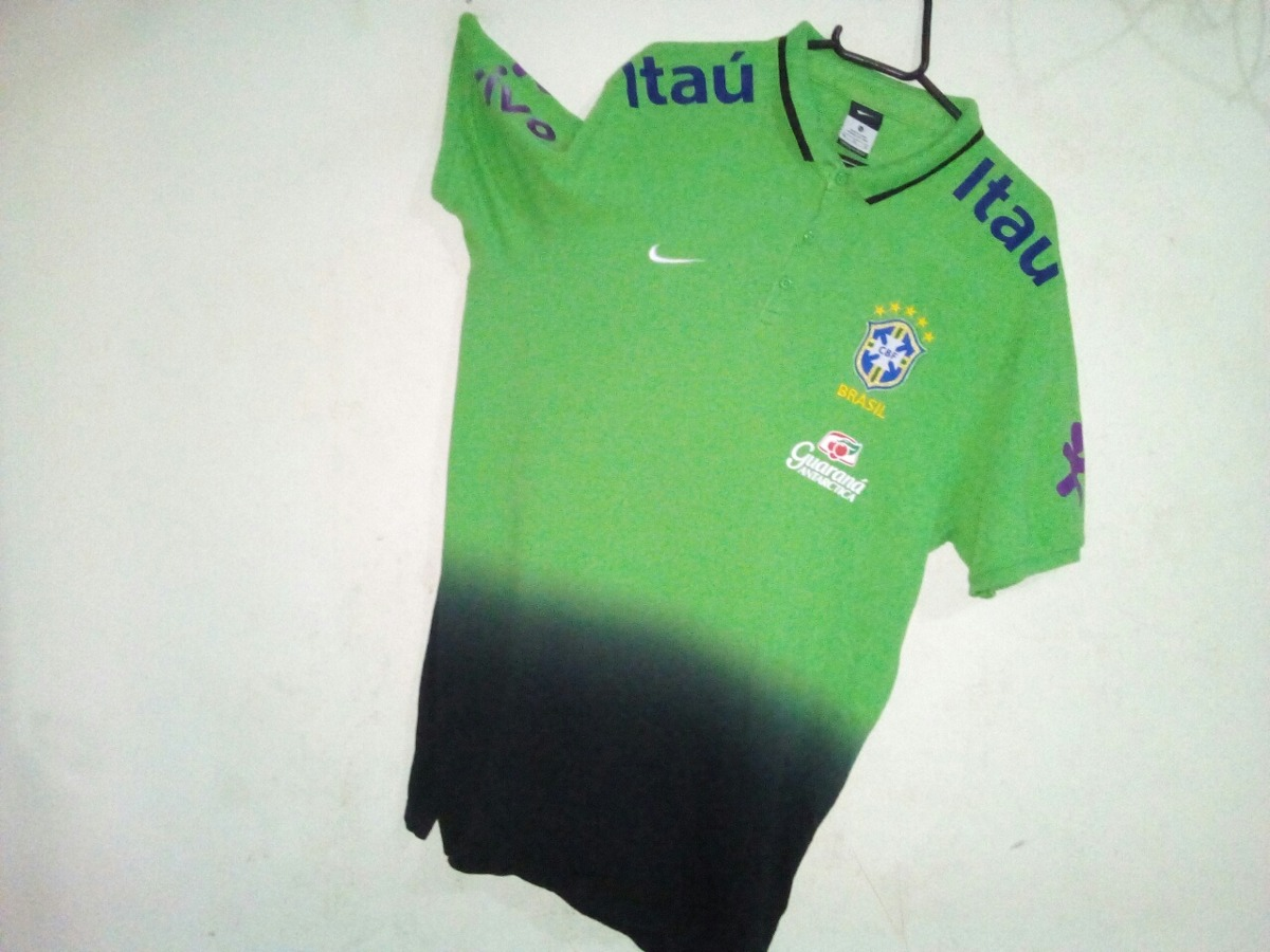 camisa seleção brasileira pólo verde original nike. Carregando zoom. 9d57eb31cc448