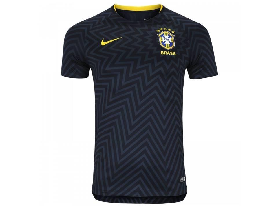 camisa seleção brasileira pré jogo original preta nova azul. Carregando zoom . d282481400871