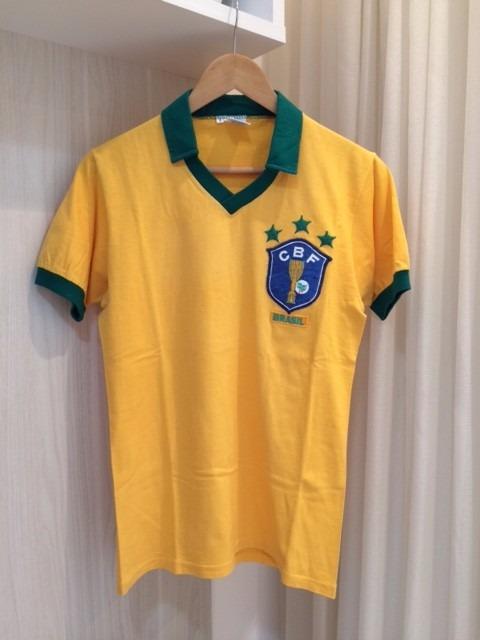 d13330c9feab6 Carregando zoom. camisa seleção brasileira retrô algodão tri-campeã