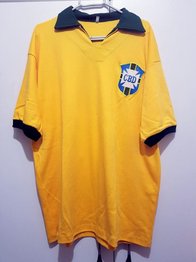 2c3556404 camisa seleção brasileira retrô copa 1962 (garrincha). Carregando zoom.