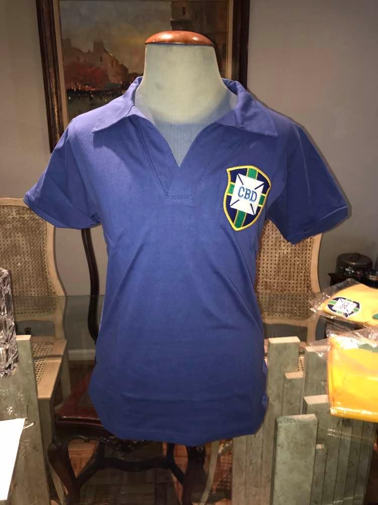 ecdbe53f88 Camisa Seleção Brasileira Retro De 58
