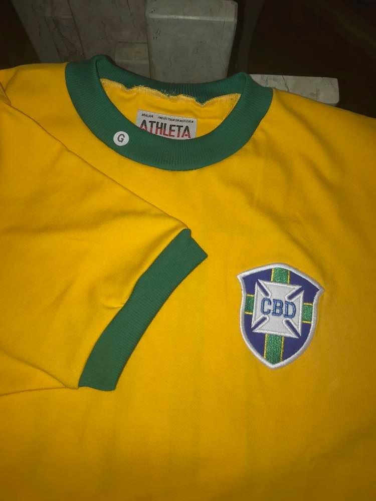 Camisa Seleção Brasileira Retro De 58 24b5aad1bbf17