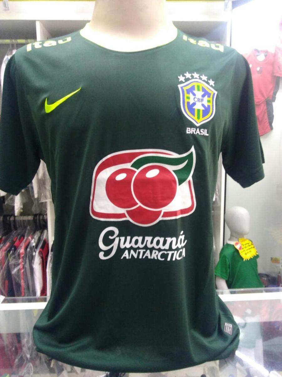ca43ace6a60cb camisa seleção brasileira treino 2017 nike verde. Carregando zoom.