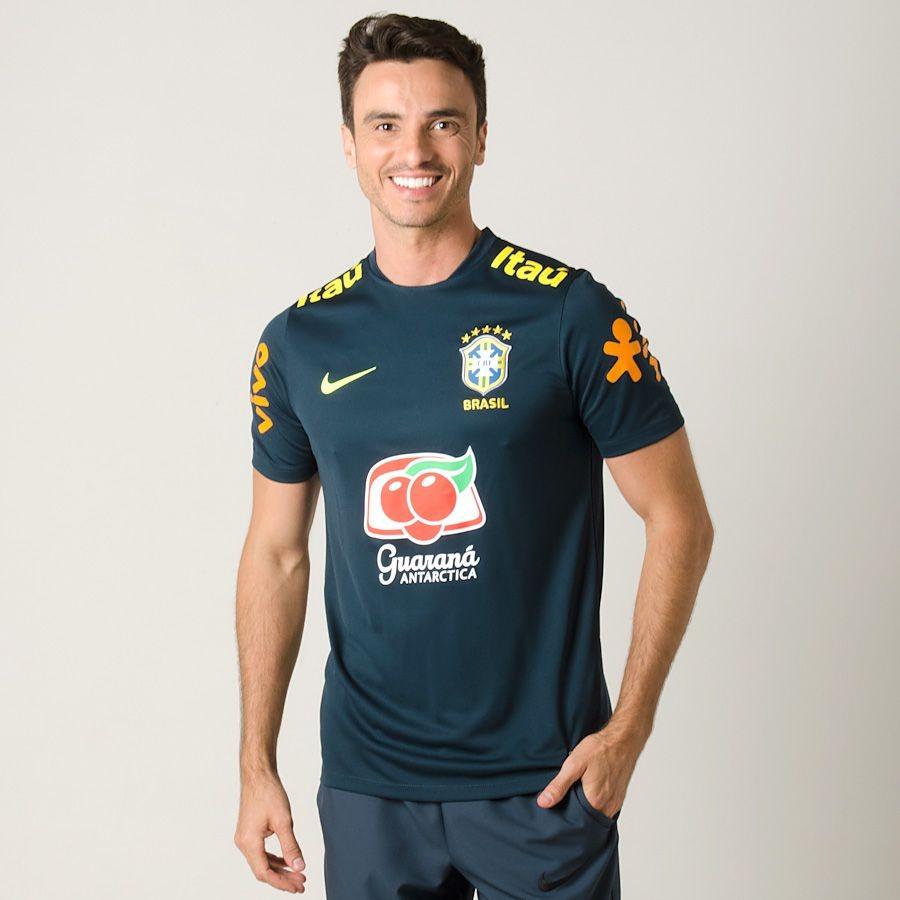 f094d11fccb16 Camisa Seleção Brasileira Treino 2018 C patrocinio - R  179