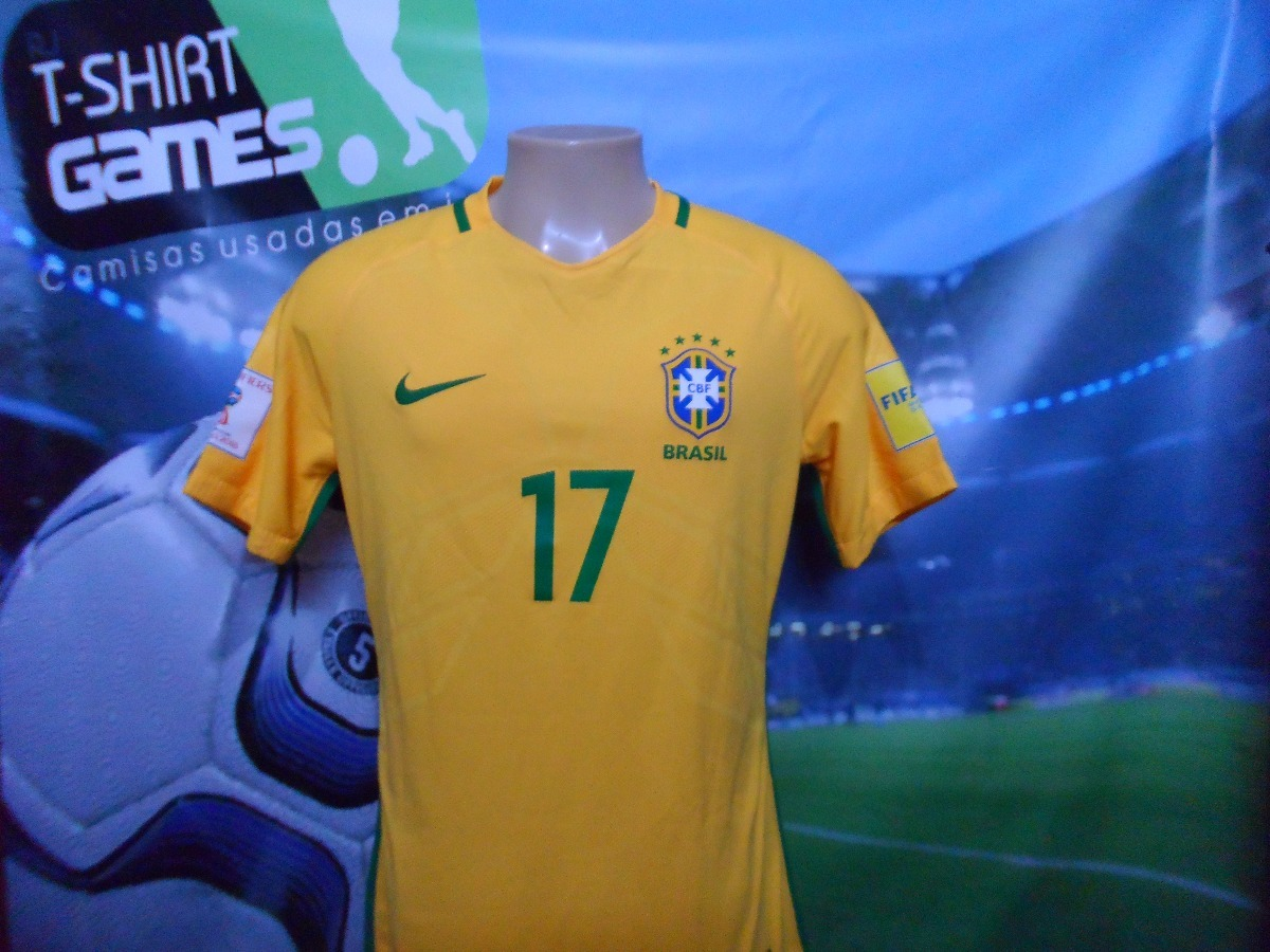 camisa seleção brasileira usada eliminatórias da copa 2018. Carregando zoom. eecd0aea792bc