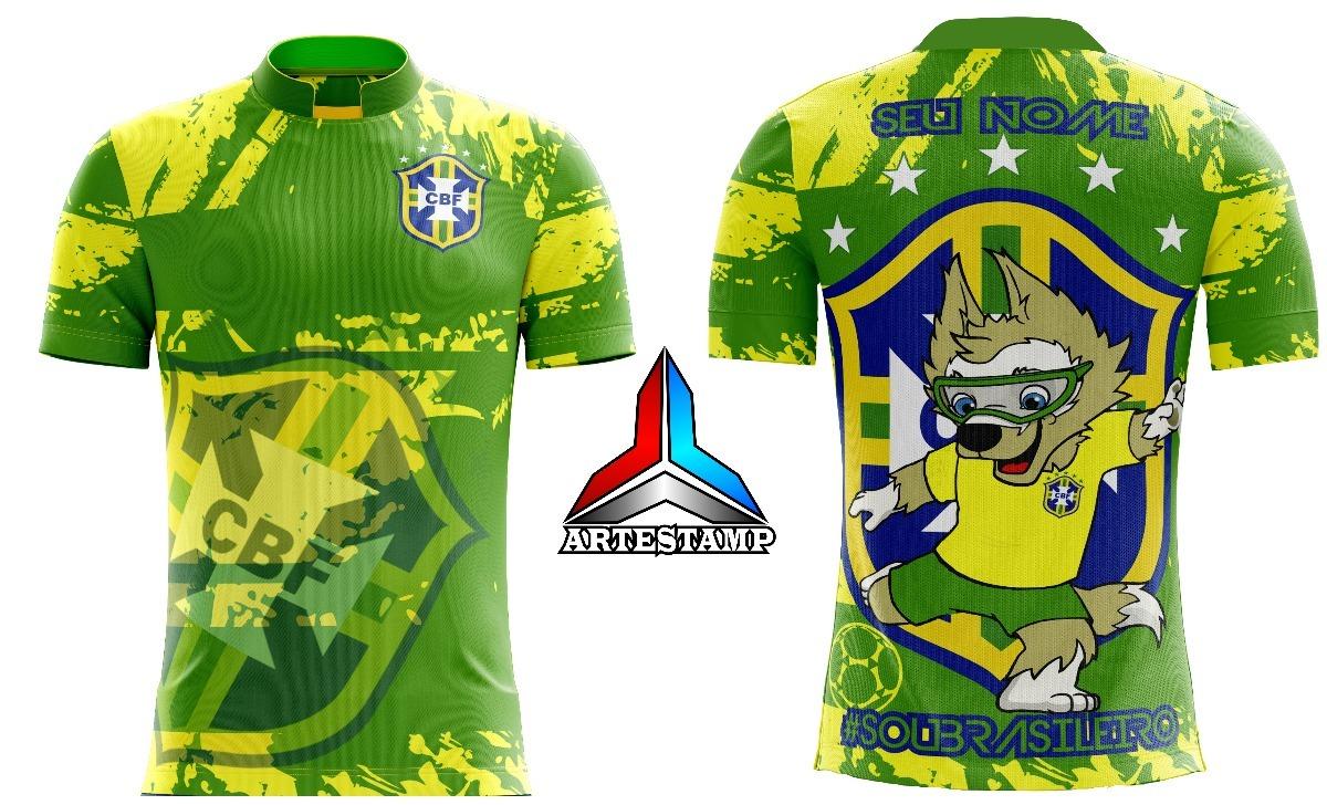 605cfe68370bc camisa seleção brasileira brasil copa 2018 mascote verde. Carregando zoom.