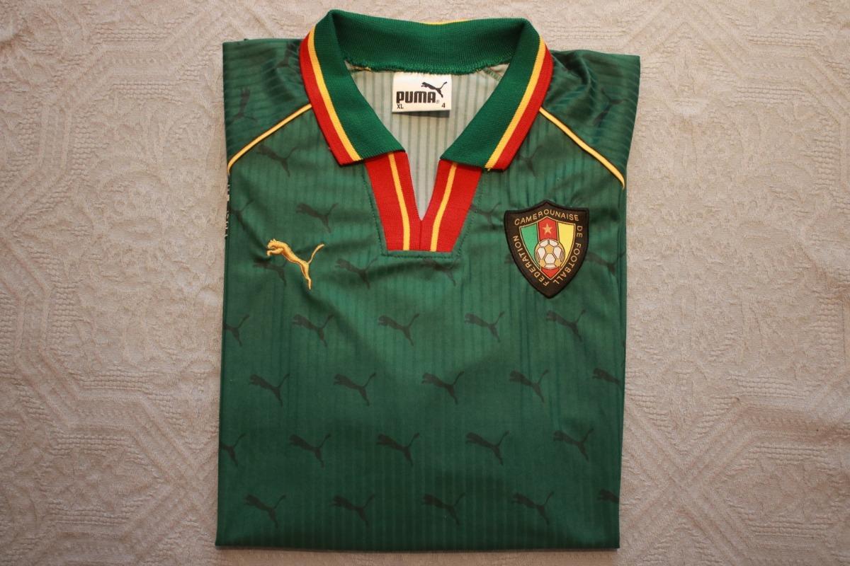 ddfaea4854624 Camisa Seleção Camarões Oficial Puma - R  99