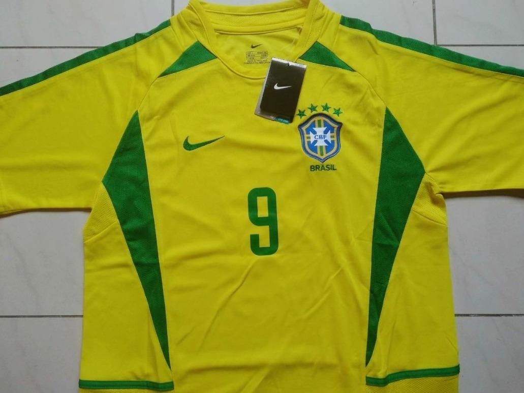 efaaf54c9e6e6 Camisa Seleção Brasileira Original Retrô 2002 L-6 Camisas - R  119 ...