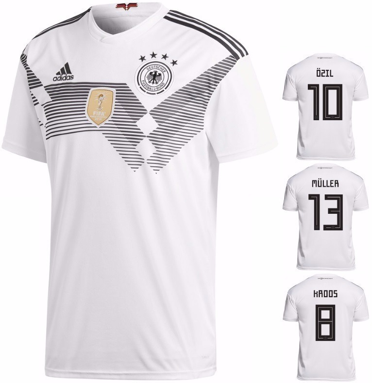 dbdf8d4dc Camisa Seleção Da Alemanha Uniforme 1 2018 Frete Grátis - R  120