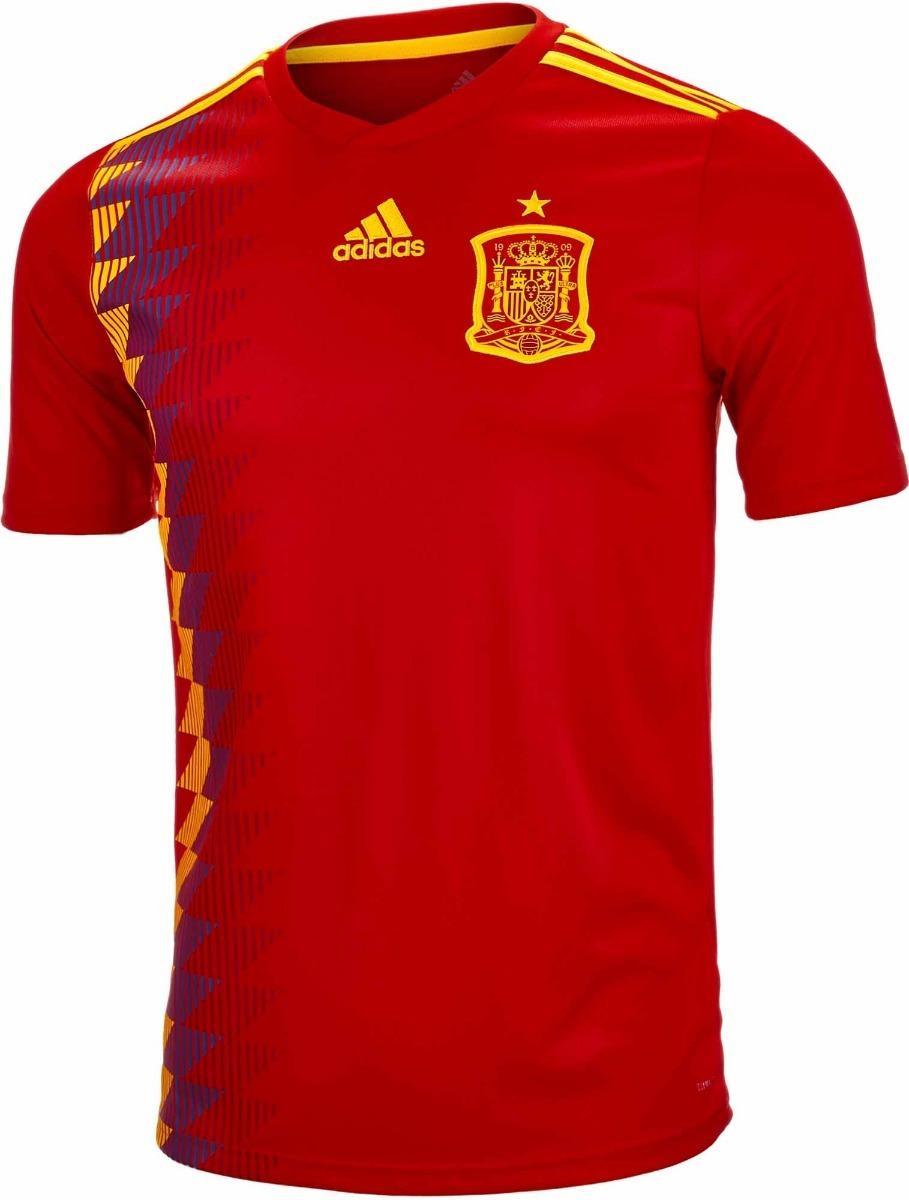 Camisa Seleção Da Espanha - Uniforme 1 - 2018 - Frete Grátis - R ... 1ab97b9fa2b71