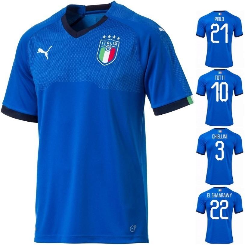 9dbb9a135c035 NETSHOES - MARKETPLACE  Camisa Puma Itália Home 2018 - Azul - R  123