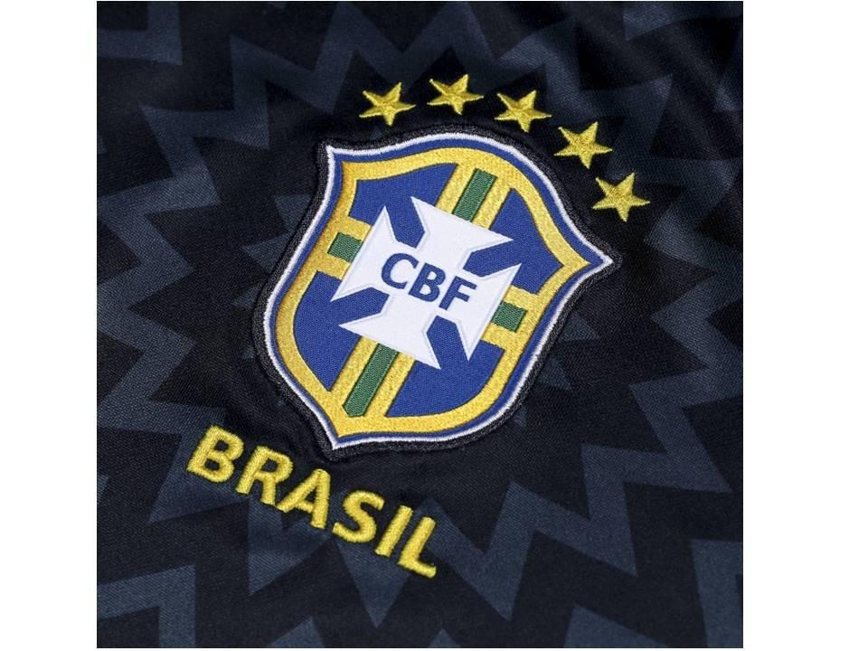 camisa seleção do brasil pré jogo preta nova frete grátis. Carregando zoom. 1a88bffd986a4