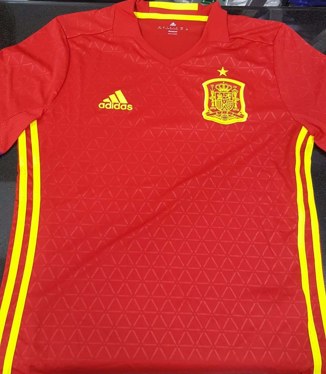 e6a1c2391c Camisa Seleção Espanha Home 2016 Juvenil Tamanho 14 - R  119