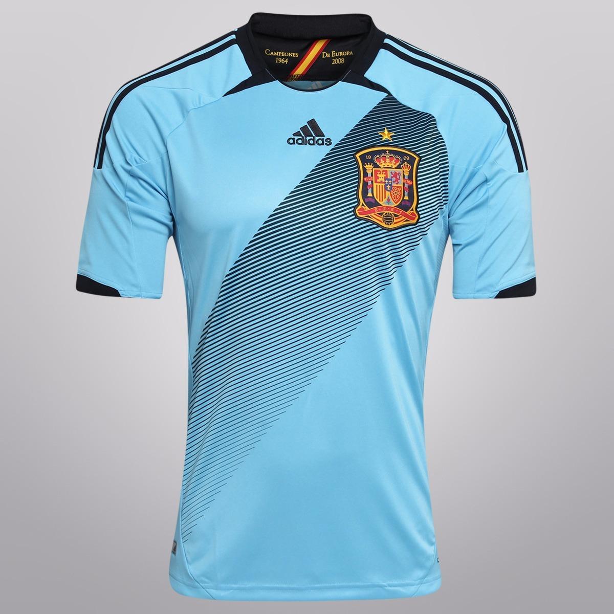 Camisa adidas Seleção Espanha Away 2012 Euro Copa Uefa Troco - R  99 ... 018bbf689d3d1