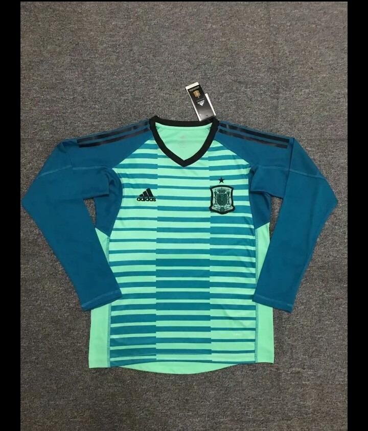 camisa seleção espanha goleiro manga longa adidas 2018. Carregando zoom. 4093c4e12afac