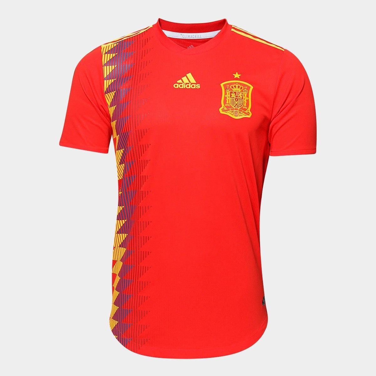 camisa seleção espanha home 2018 s n° - jogador adidas masc. Carregando zoom . 791b43e079904